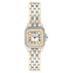 Cartier Panthere Ladies Steel Yellow Gold 3-Row Ladies Watch W25029B6