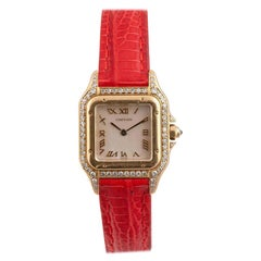Cartier Panthere Ladies Yellow Gold and Diamond Wristwatch