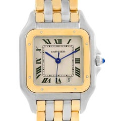 Cartier Panthere Large Steel 18 Karat Yellow Gold Three-Row Watch W25028B6