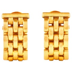 Cartier Panthere Maillon Hoop Earrings