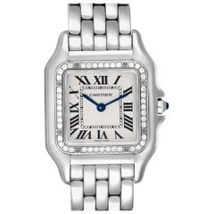 Cartier Panthere Medium Steel Diamond Ladies Watch W4PN0008