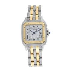 Cartier Panthere Midsize 18 Karat Yellow Gold Two-Row Date Quartz Watch