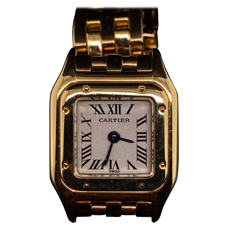 Cartier Panthère Mini 18 Karat Yellow Gold Quartz Ladies Wristwatch