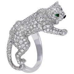Cartier Panthere Onyx Diamond Pave Gold Ring