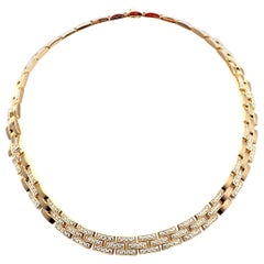Cartier Panthere Panther Maillon Diamond Yellow Gold Necklace