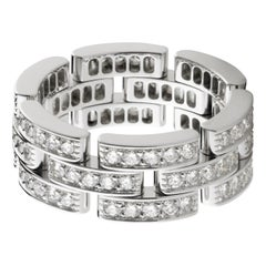Cartier Panthère Pavé Diamond Band with White and Grey Diamonds Estate Pre-Owned