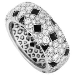 Cartier Panthère Pelage 18 Karat White Gold Diamond and Onyx Eternity Band
