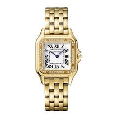 Cartier Panthère Quartz Medium Model Yellow Gold and Diamond Watch WJPN0016