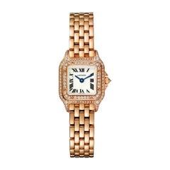 Cartier Panthère Quartz Mini Model Pink Gold and Diamond Watch WJPN0020
