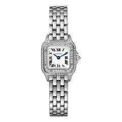 Cartier Panthère Quartz Mini Model White Gold and Diamond Watch WJPN0019