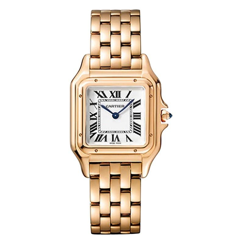 Cartier Panthère Quartz Movement Medium Model Pink Gold Watch WGPN0007