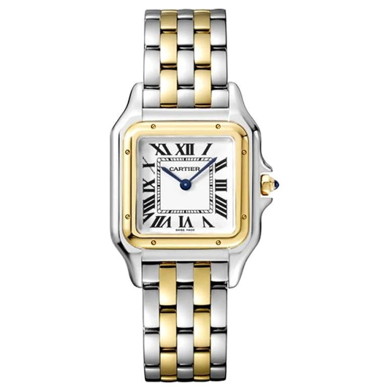 Cartier Panthère Quartz Movement Medium Model Yellow Gold & Steel Watch W2PN0007