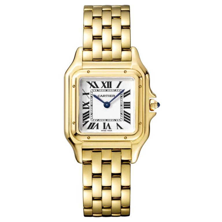 Cartier Panthère Quartz Movement Medium Model Yellow Gold Watch WGPN0009