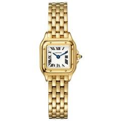 Cartier Panthère Quartz Movement Mini Model Yellow Gold Watch WGPN0016