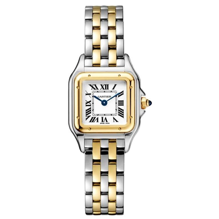 Cartier Panthère Quartz Movement Small Model Gold and Steel Watch W2PN0006