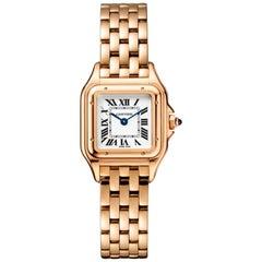 Cartier Panthère Quartz Movement Small Model Pink Gold Watch WGPN0006