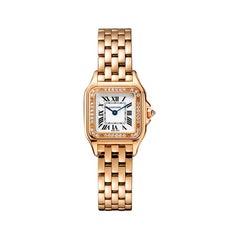 Cartier Panthère Quartz Small Model Rose Gold and Diamonds Watch WJPN0008
