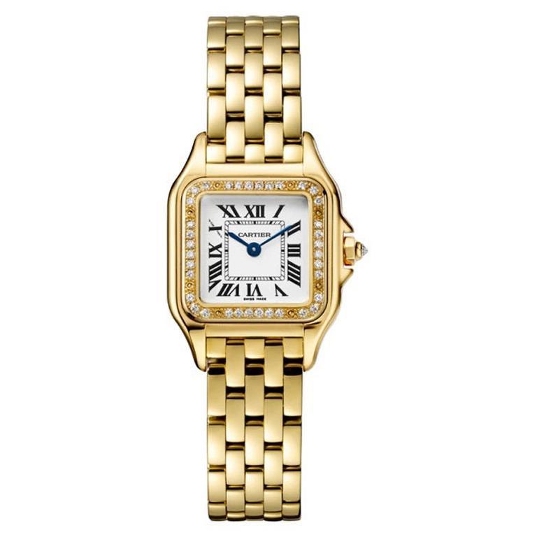 Cartier Panthère Quartz Small Model Yellow Gold and Diamond Watch WJPN0015