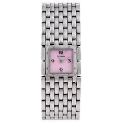 Cartier Panthère Ruban Stainless Steel and Mother-of-Pearl Wristwatch