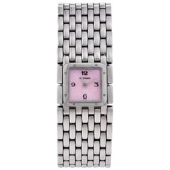 Cartier Panthère Ruban Stainless Steel and Mother of Pearl Wristwatch