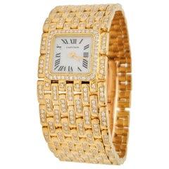 Cartier Panthere Ruban Yellow Gold and Diamond Watch