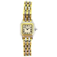 Cartier Panthere Small Model Yellow Gold and Steel Watch