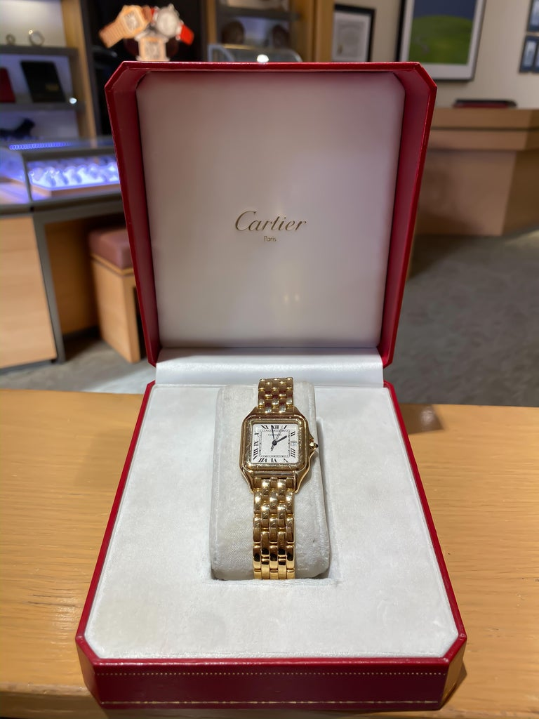 Cartier Panthere Solid 18 Karat Yellow Gold, Quartz Movement and Box 3