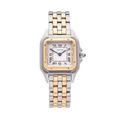 Cartier Panthere Stainless Steel and 18 Karat Yellow Gold Women's W25029B6