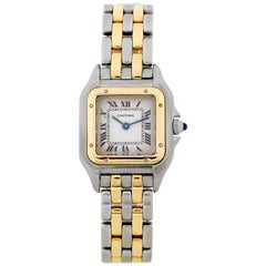Cartier Panthère Stainless Steel and 18 Karat Gold Ladies Quartz Wristwatch