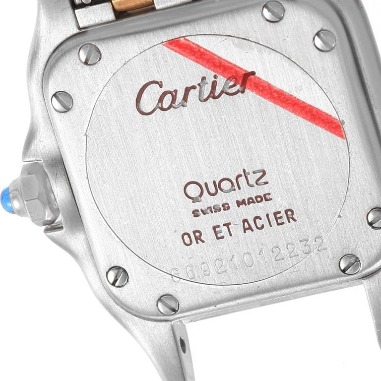 Cartier Panthere Steel 18 Karat Yellow Gold 2-Row Ladies Watch W25029B6 For Sale 4