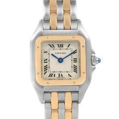 Cartier Panthere Steel 18 Karat Yellow Gold 2-Row Ladies Watch W25029B6
