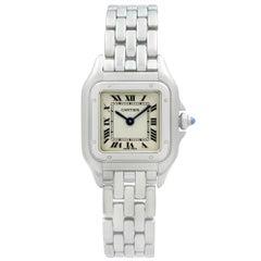 Cartier Panthere Steel Silver Roman Dial Quartz Ladies Watch W25033P5
