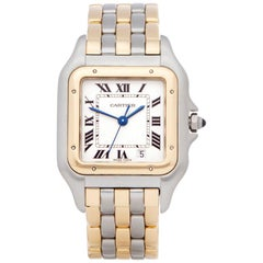 Cartier Panthere Three-Row 18 Karat Stainless and Yellow Gold W25028V