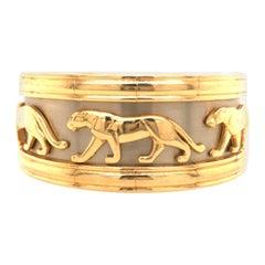 Cartier Panthère Torque 18K Two-Tone Gold Bangle Cuff Bracelet
