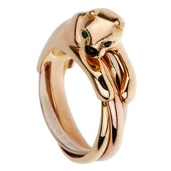 Cartier Panthere Trinity Tri Color Gold Ring