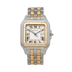 Cartier Panthere Two-Row Stainless and Yellow Gold 187957 or 0194 Wristwatch