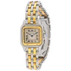 Cartier Panthere Two-Tone Gold and Steel Ladies Watch