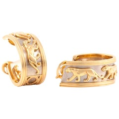 Cartier Panthere Two-Toned Gold Earrings