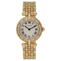 Cartier Panthere Vendome 8057916 18K Yellow Gold Diamond Ladies Watch