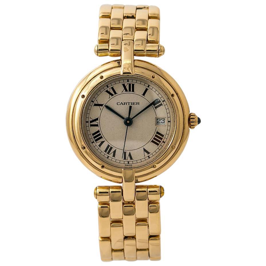 Cartier Panthere Vendome 883964 Womens Quartz Watch 18 Karat Yellow Gold