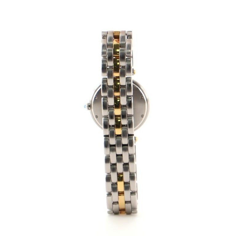 Cartier Panthere Vendome Quartz Watch Stainless Steel and Yellow Gold 30 In Good Condition In New York, NY