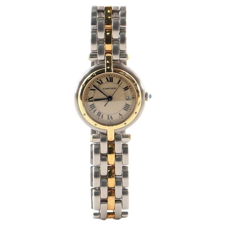 Cartier Panthere Vendome Quartz Watch Stainless Steel and Yellow Gold 30
