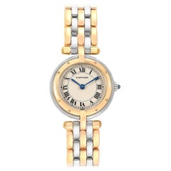 Cartier Panthere Vendome Small 3-Row Steel Yellow Gold Ladies Watch