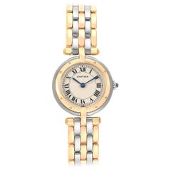 Cartier Panthere Vendome Three-Row Steel Yellow Gold Ladies Watch 166920