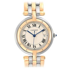 Cartier Panthere Vendome Three-Row Steel Yellow Gold Ladies Watch 183984