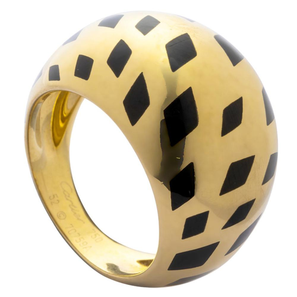 Cartier Panthere Vintage Bombe Cocktail Yellow Gold Ring