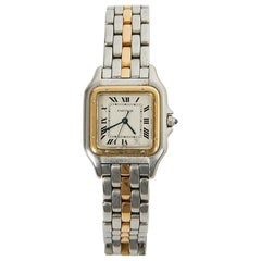 Cartier Panthere Watch Wristwatch Gold Steel