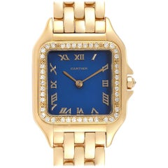 Cartier Panthere XL 18 Karat Yellow Gold Diamond Unisex Watch W25014B9