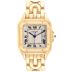 Cartier Panthere XL Art Deco Yellow Gold Men's Watch W25014B9