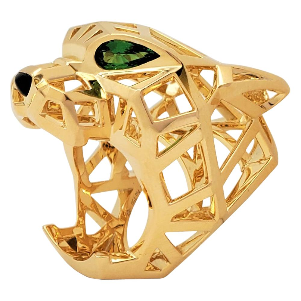 Cartier Panthère Yellow Gold Openwork Panther Head Ring